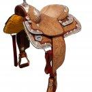 """WESTERN HORSE LEATHER SHOW SADDLE 16"""""""