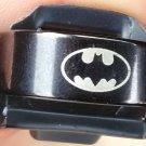 "Unisex Stainless Steel Black Batman Ring Size ""10"""