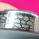 "Unisex Stainless Steel Cobblestone Design Ring Size ""10"""