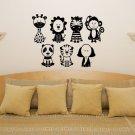 Animal Pack Nursery / Kids / Children's Bedroom Decal Wall Art Sticker Picture