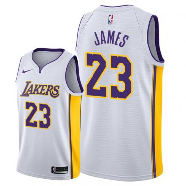 quality design c0be3 a0dac Men's Los Angeles Lakers LeBron James Association Jersey - White