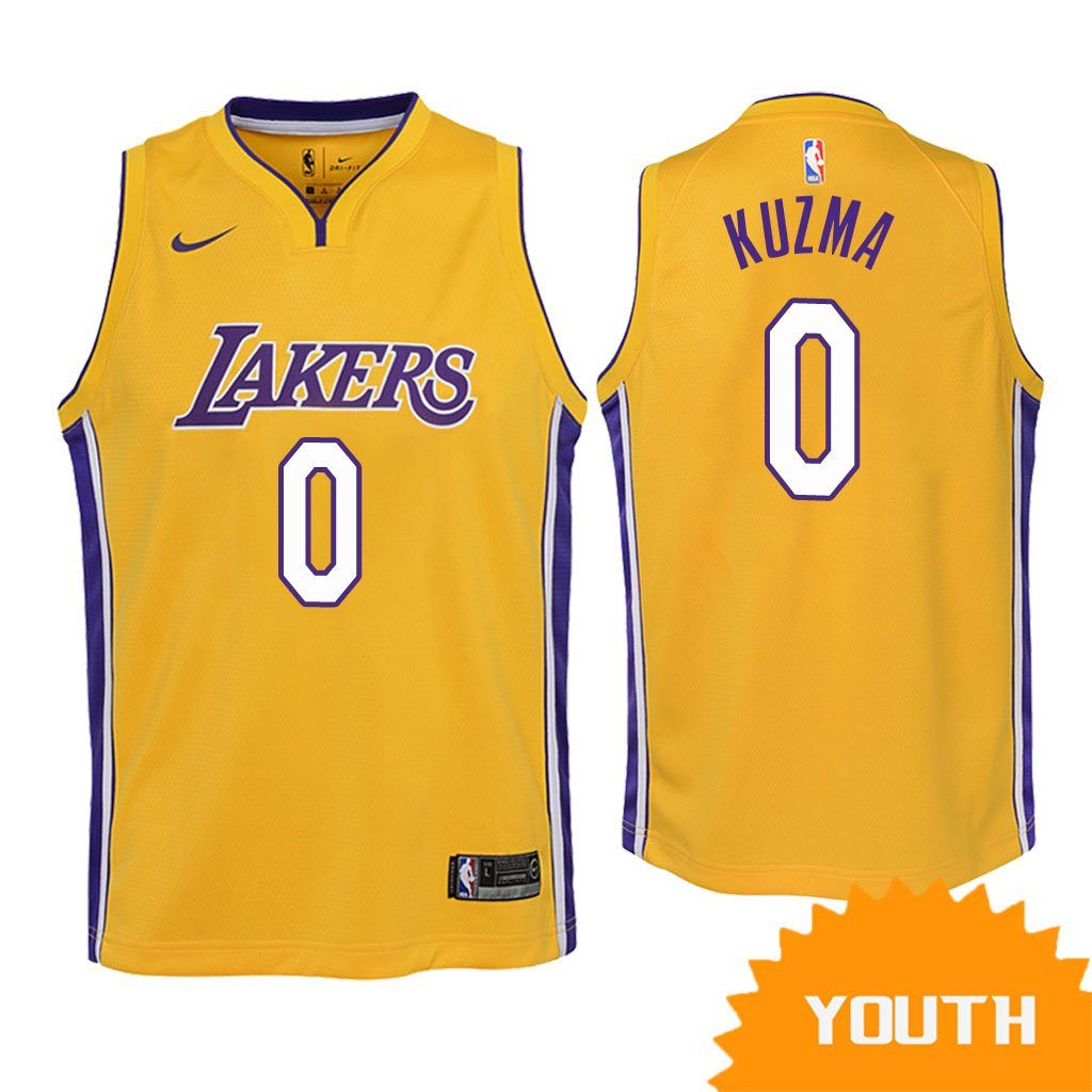 separation shoes 03713 cb7e5 Youth Los Angeles Lakers Kyle Kuzma Icon Edition Jersey - Gold