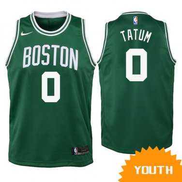 hot sale online f316c 4d9fa Youth Boston Celtics Jayson Tatum Icon Jersey - Green