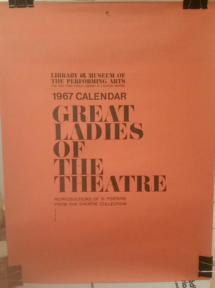 Great Ladies of the Theatre Calendar, 1967