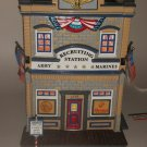 Department 56 Armed Forces Recruiting Station #56.55081 Retired