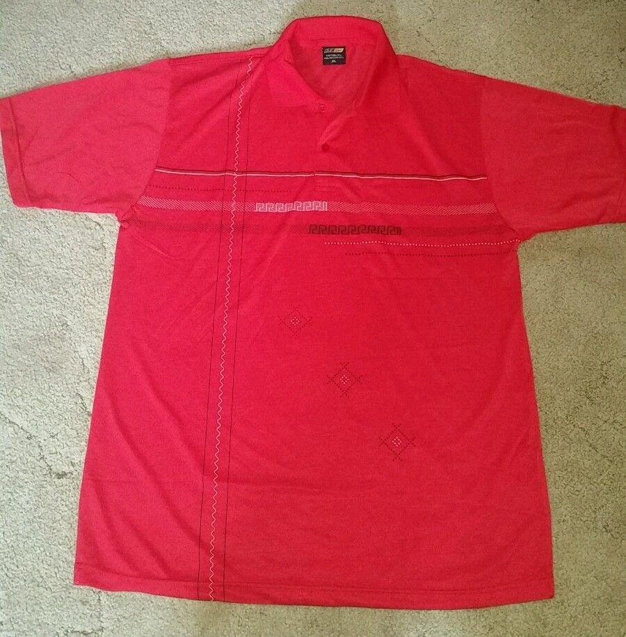 S.F. Deer Men's Red Short Sleeve Polo Shirt Size XL Cotton Blend