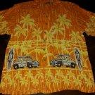 De-Coded Hawaiian Shirt, Surf Theme, Medium Button Front