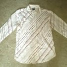 NDX Nederland Men's Striped Button-Down Casual Shirt LARGE