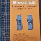 Vintage Electra 9 Transistor Transceiver Model WT-900 Walkie Talkies in Box