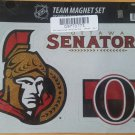 NHL Ottawa Senators Bling Team Magnet Set with Team Logos, 8.5 x 11-Inch, Clear