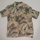 Panama Jack Leaf Print Hawaiian Shirt, Large