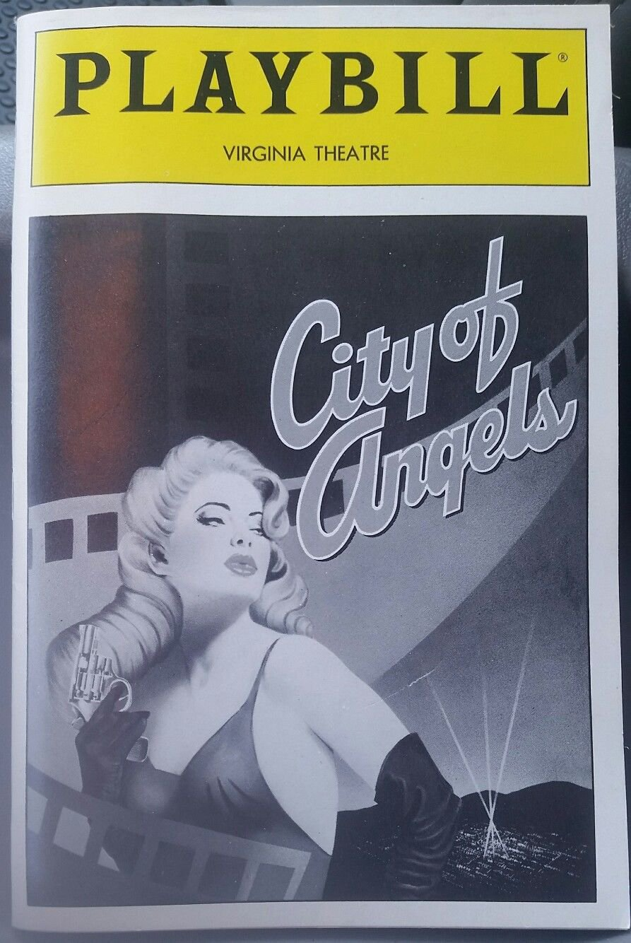 City Of Angels - Virginia Theatre Playbill w/Ticket - April 25th, 1990
