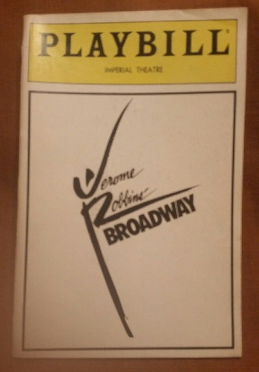 Jerome Robbins' Broadway - Imperial Theatre Playbill - March 1989 - Alexander