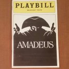 Amadeus Playbill from the Broadhurst Theatre with May 19, 1982 Stub