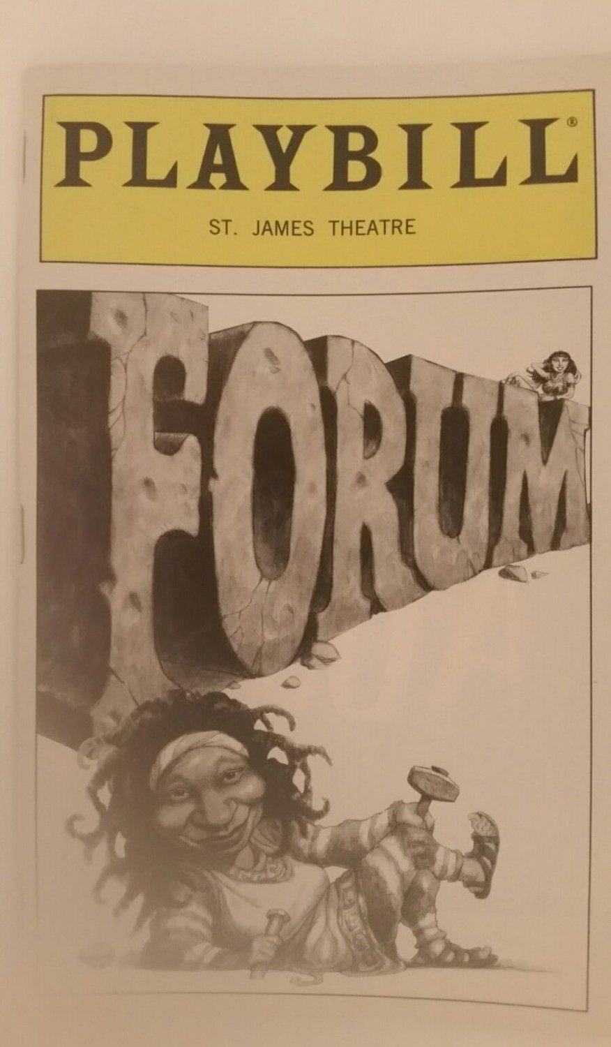 Forum Playbill from the St. James Theatre w Apr 11, 1997 Stub, BW cover