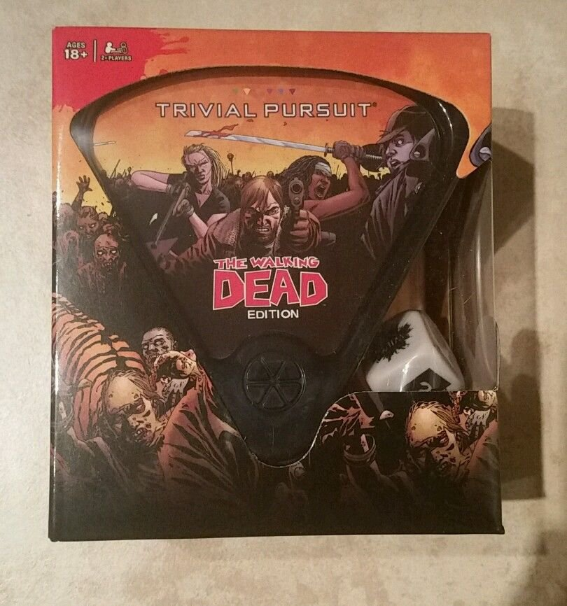 The Walking Dead Edition of Trivial Pursuit from Usaopoly, New, damaged box