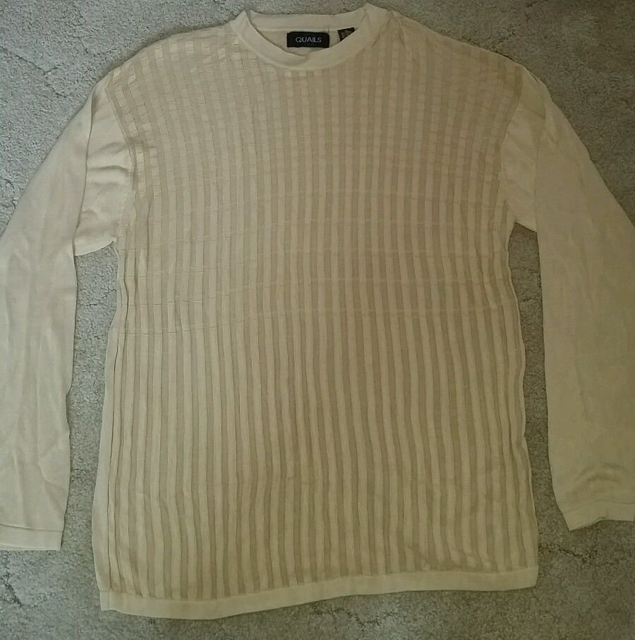 Quails Sweater, Tan, XL