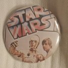 Star Wars Episode IV A New Hope Pin-Back Button, Luke Skywalker and R2D2 Vintage