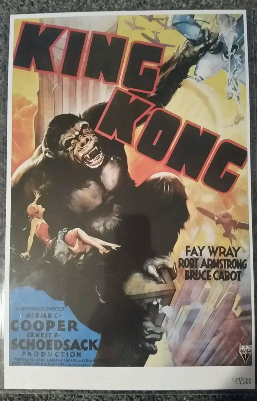 """King Kong Movie Poster Limited Edition with COA, 11""""x17"""""""