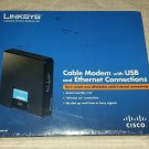 Cisco-Linksys Cable Modem with Ethernet USB Connection. CM100
