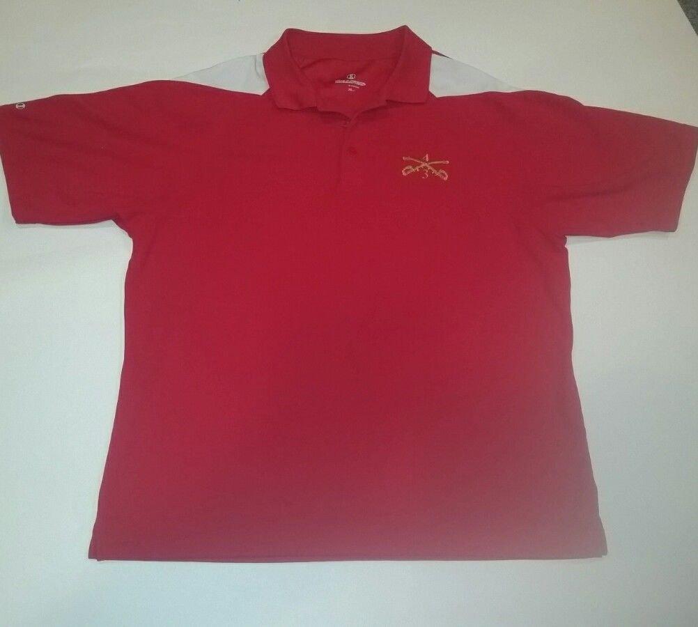 3/4 Cavalry Moisture Wick Golf Polo Shirt from Holloway, XL