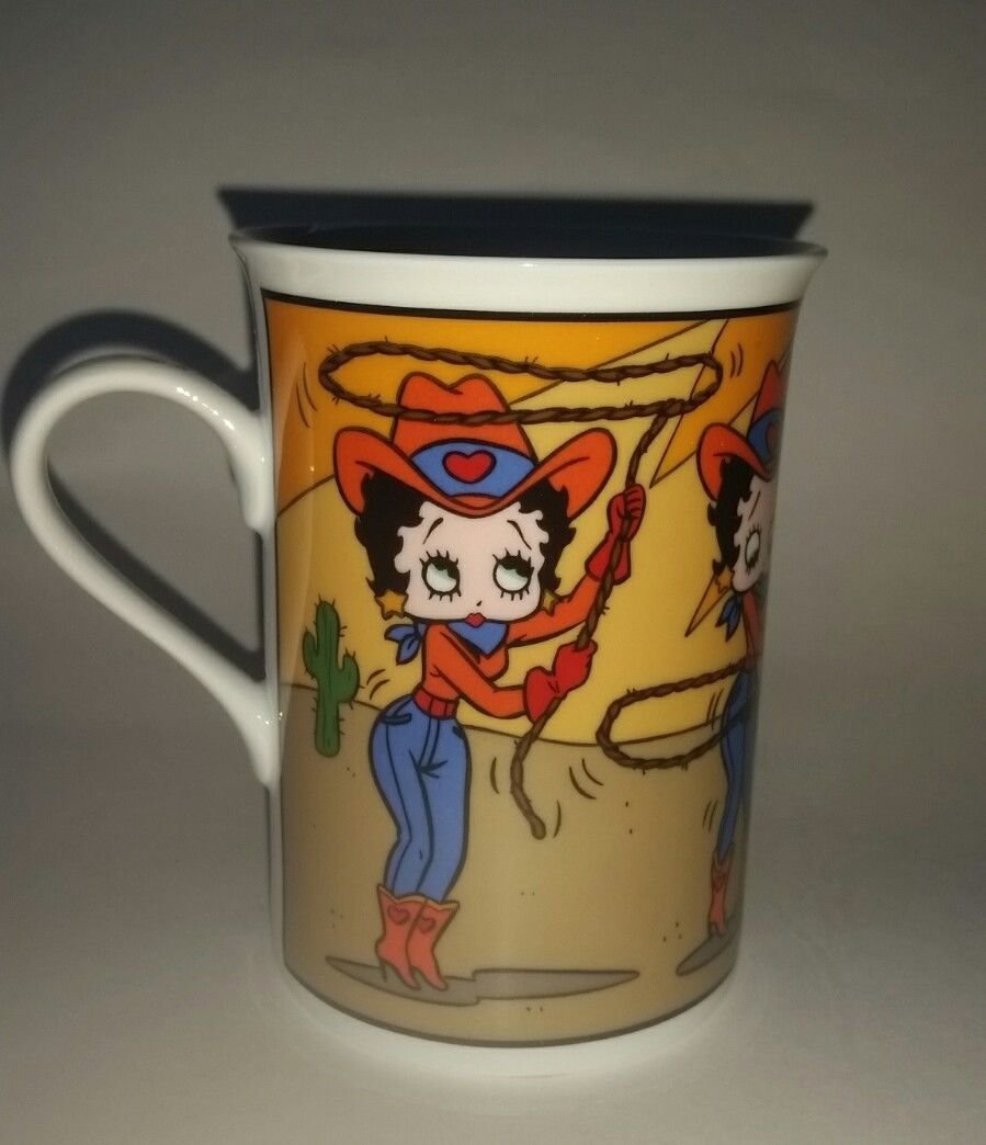 Betty Boop Danbury Mint Betty On The Ropes Mug Coffee Cup Glass Souvenir