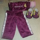 American Girl Doll Warm Up Outfit and Mat, Incomplete, Retired 2004