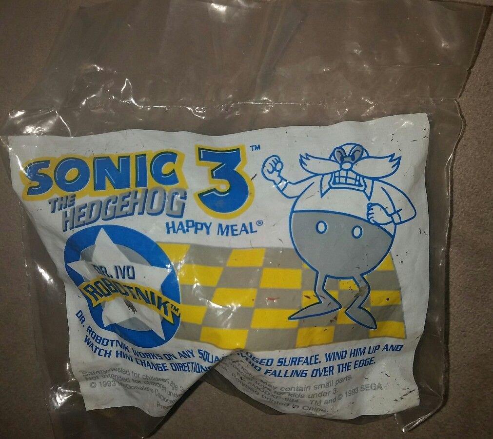 1993 Dr Ivo Robotnik McDonald's Action Figure Sega Sonic The Hedgehog 3