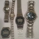Watch Lot for Scrap or Salvage / Acuet, Swanson, Armitron, and Sonic