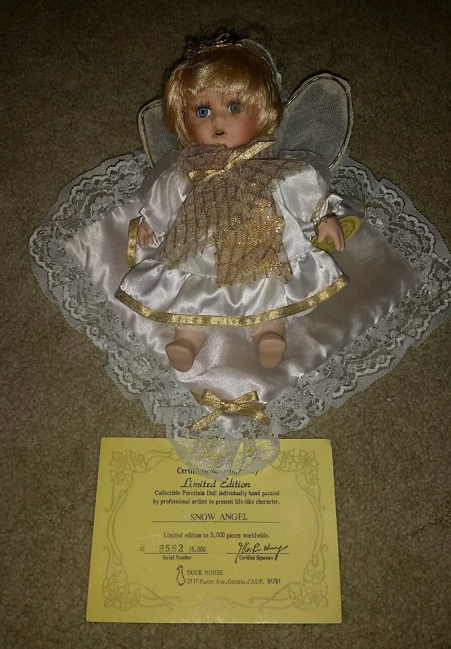 Duck House Limited Edition Porcelain Doll Snow Angel, 3582/5000