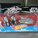 Hot Wheels Star Wars Force Awakens First Order Tie Fighter vs Millennium Falcon