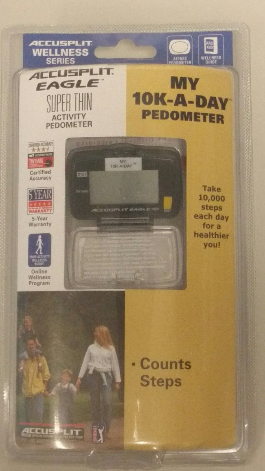 Accusplit AE1620 Eagle Step Activity Pedometer in Blister