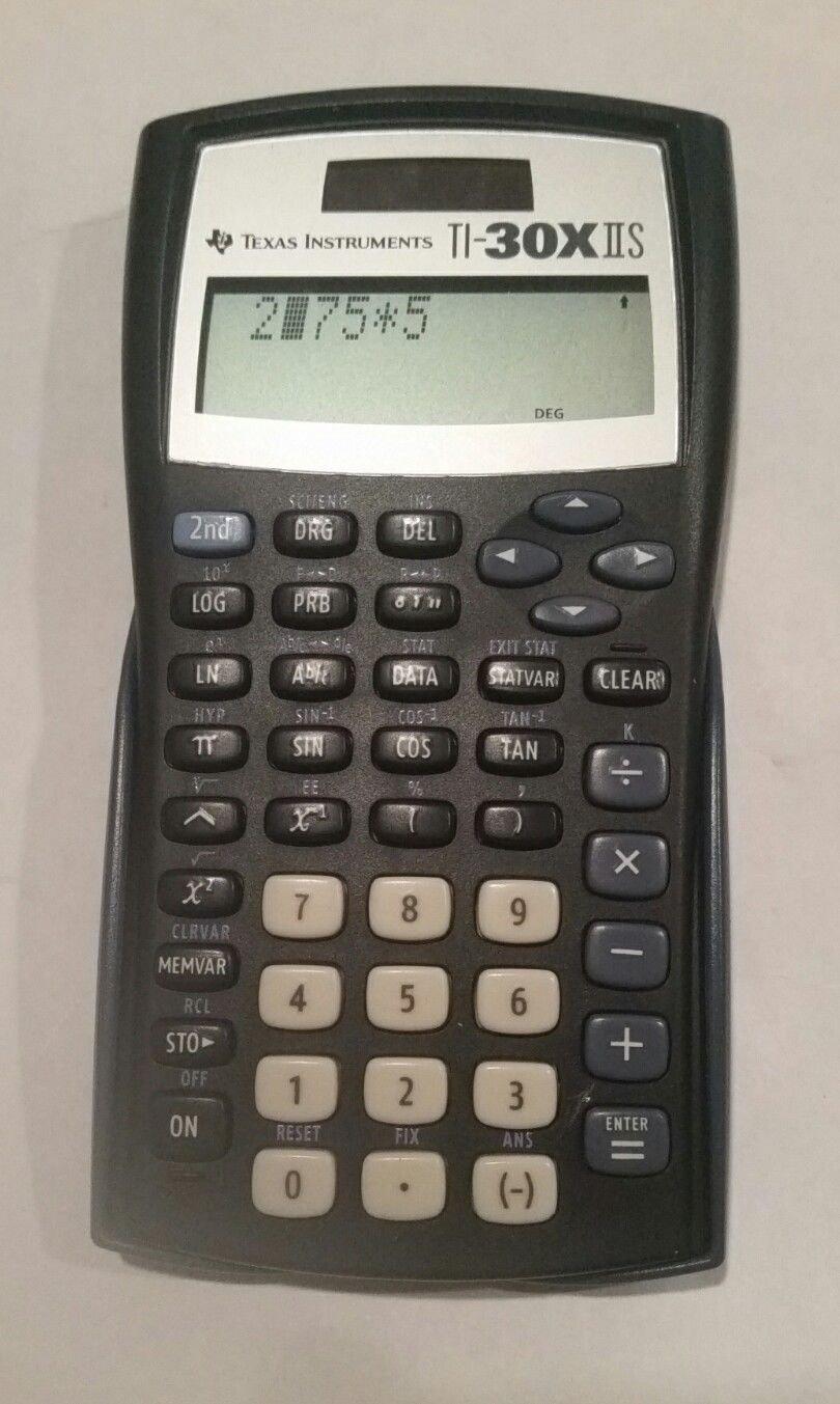 Texas Instruments TI-30XIIS 2-Line Scientific Calculator. Solar + Battery.