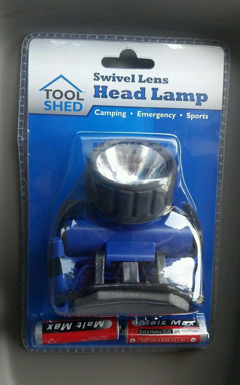 Tool Shed Swivel Lens Waterproof Head Lamp, headlamp