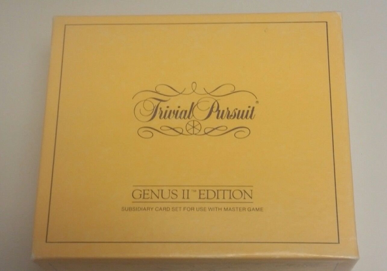 Trivial Pursuit GENUS II EDITION Subsidiary Card Set use with Master Game