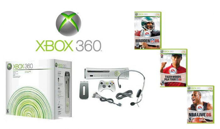Xbox 360 Premium Gold Pack Sports Bundle Video Game System