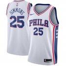 Mens Ben Simmons #25 Swingman 76ers Jersey white