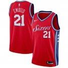 Men's Joel Embiid #21 Swingman  76ers Jersey red statement edition