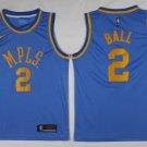 Lakers #2 Lonzo Ball  jersey blue