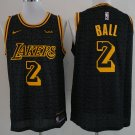 Men's Lakers #2 Lonzo Ball jersey black
