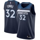 Mens Timberwolves #32 towns jersey blue-Ship from US