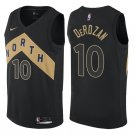 Raptors #10 Demar Derozan Men's black stitched jersey