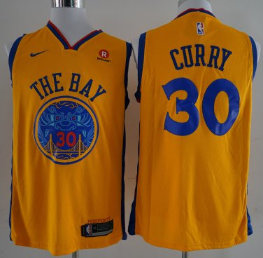 quality design c7268 a3478 Men's Stephen Curry Jersey THE BAY yellow