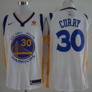 Men's Warriors 30 Stephen Curry Jersey white