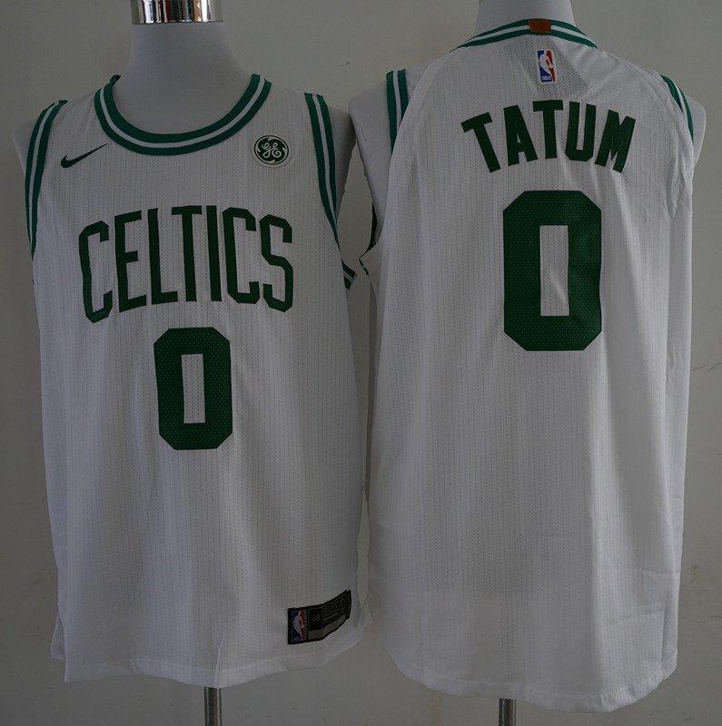best service 5b808 365fa Men's Celtics 0 Jason Tatum jersey white