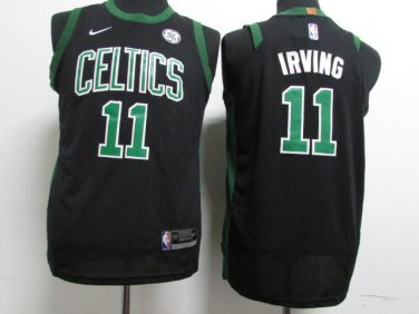 half off a26d7 e810e Youth kid kyrie irving celtics jersey black