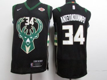 big sale 17eca 4bdcf Youth giannis antetokounmpo jersey black