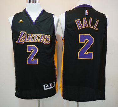 online store 53dd4 9189f Youth Lonzo Ball lakers jersey black