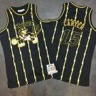 Men's Raptors 15 Vince Carter jersey black gold
