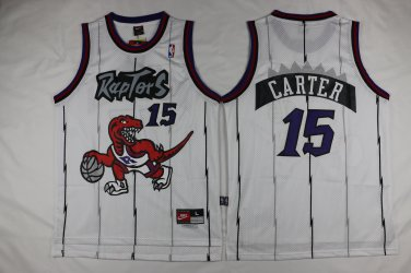 the latest fca21 4cd0f Mens Raptors 15 Vince Carter jersey white